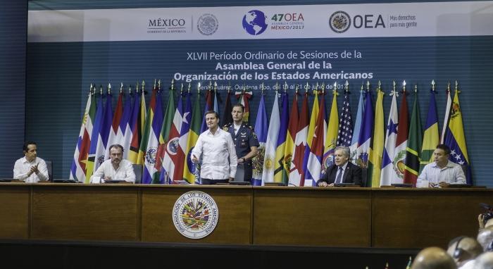 Inauguración de la 47 Asamblea General de la OEA