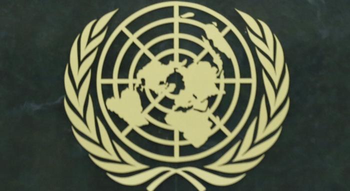 UN logo. Photo by UN Photo.