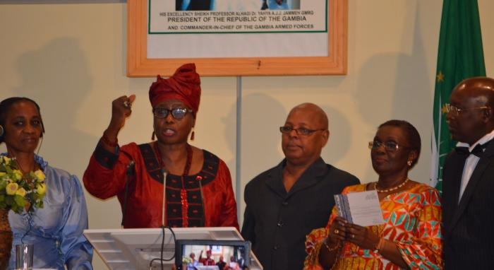 Women human rights defender Dr Isatou Touray