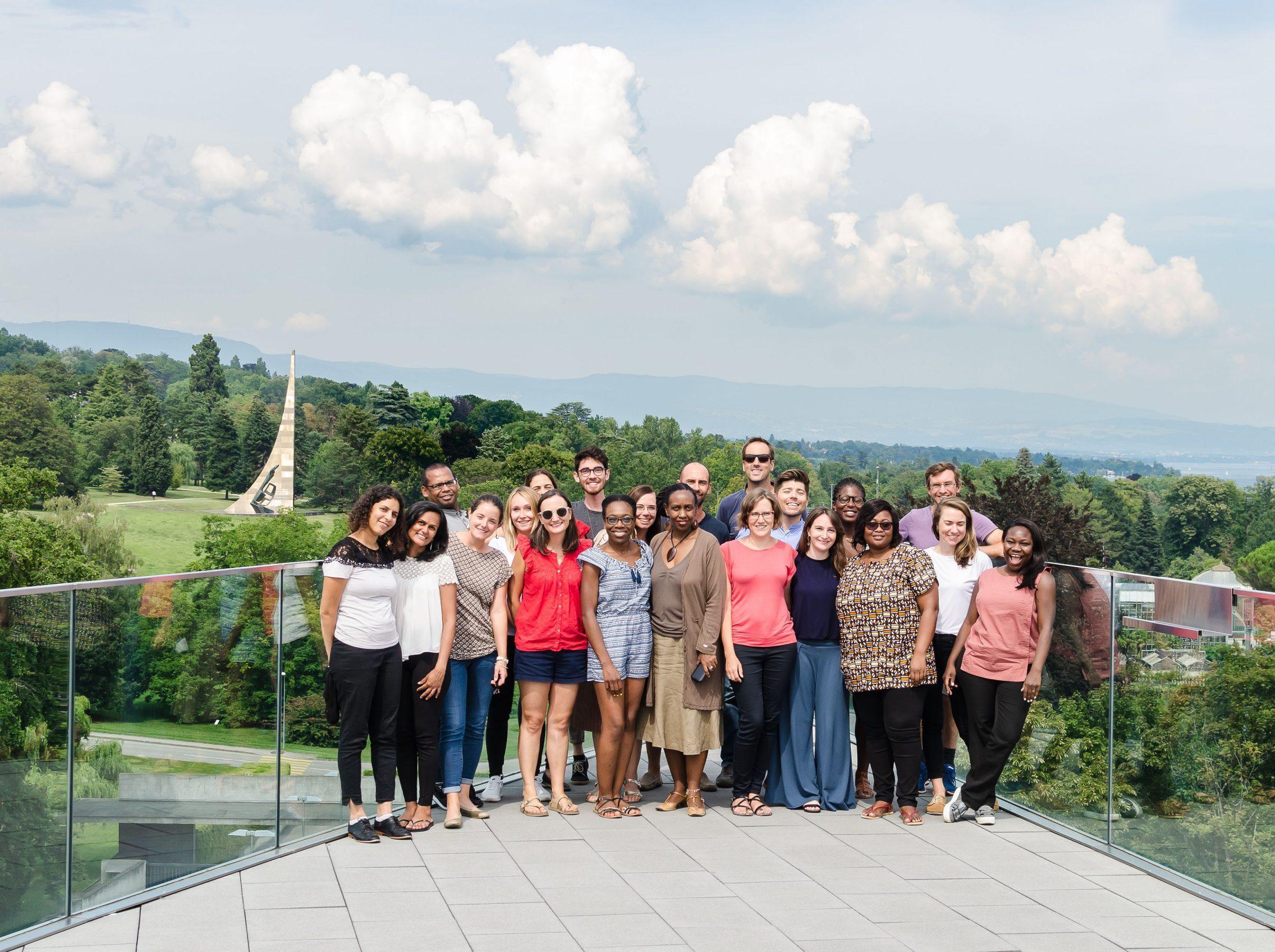 ISHR's staff strategy retreat group photo