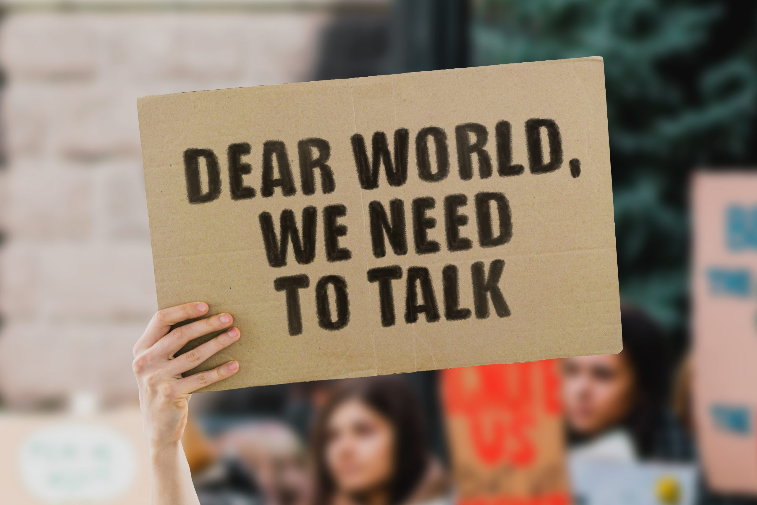 Protest Poster from Black Lives Matter: Dear world, we need to talk